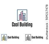 m   mi square cool modern... | Shutterstock .eps vector #509217478