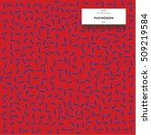 postmodern pattern. memphis... | Shutterstock .eps vector #509219584
