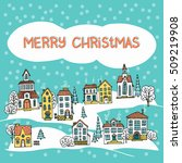 christmas greeting card with... | Shutterstock .eps vector #509219908