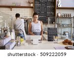 couple working behind the... | Shutterstock . vector #509222059