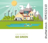 green energy an eco friendly... | Shutterstock .eps vector #509222110
