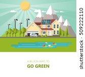 green energy an eco friendly... | Shutterstock .eps vector #509222110