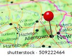 Allentown Pinned On A Map Of...