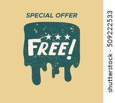 grunge color design free sale...   Shutterstock .eps vector #509222533