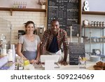 mixed race couple behind... | Shutterstock . vector #509224069