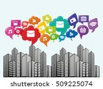 social media networking icon... | Shutterstock .eps vector #509225074