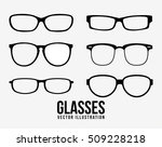 glasses object icon set.... | Shutterstock .eps vector #509228218
