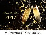 champagne glasses ready to... | Shutterstock . vector #509230390