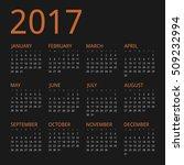 clean modern vector orange dark ... | Shutterstock .eps vector #509232994
