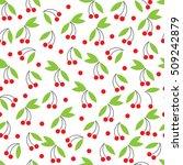 seamless texture of the cherries | Shutterstock .eps vector #509242879