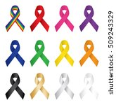 colorful awareness ribbons | Shutterstock .eps vector #509243329
