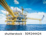 offshore oil and gas processing ... | Shutterstock . vector #509244424