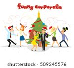 funny business people drinking  ... | Shutterstock .eps vector #509245576