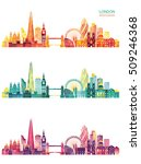 london detailed skyline. vector ... | Shutterstock .eps vector #509246368
