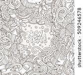 cartoon cute doodles hand drawn ... | Shutterstock .eps vector #509246578