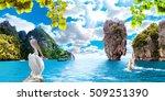 scenery thailand sea and island ... | Shutterstock . vector #509251390