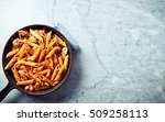 penne pasta with tomatoes ... | Shutterstock . vector #509258113