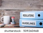 regulations and guidelines. two ... | Shutterstock . vector #509260468