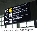 notation in airport  vietnamese ...   Shutterstock . vector #509263693
