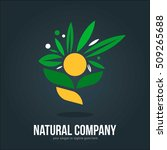 natural company flower logo... | Shutterstock .eps vector #509265688