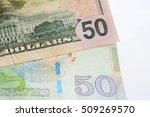 Small photo of Georgian lari.Money.Bill.The dollar outweighed Georgian Lari.
