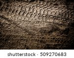 Wheel Track On Mud