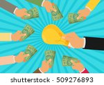 crowdfunding  investing into... | Shutterstock .eps vector #509276893
