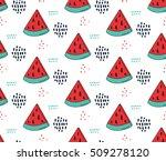 watermelon pattern. cute... | Shutterstock .eps vector #509278120