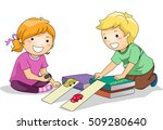illustration of preschool kids... | Shutterstock .eps vector #509280640