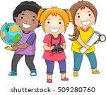 illustration of a diverse group ... | Shutterstock .eps vector #509280760