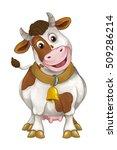 cartoon happy farm animal  ... | Shutterstock . vector #509286214