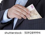 businessman takes out money... | Shutterstock . vector #509289994