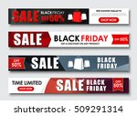 design horizontal web banners... | Shutterstock .eps vector #509291314