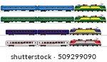 passenger express train....   Shutterstock .eps vector #509299090