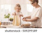 bright kitchen interior with...   Shutterstock . vector #509299189
