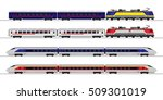 passenger express train.... | Shutterstock .eps vector #509301019