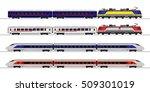 passenger express train.... | Shutterstock .eps vector #509301019