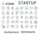 set vector line icons startup... | Shutterstock .eps vector #509304454
