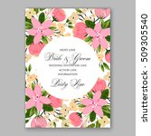 wedding invitation with...   Shutterstock .eps vector #509305540