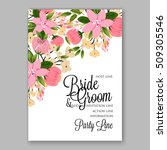 wedding invitation with... | Shutterstock .eps vector #509305546