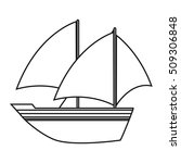 isolated sailboat design | Shutterstock .eps vector #509306848