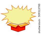 illustration of open box blast  | Shutterstock .eps vector #509313700