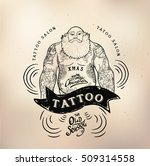 tattoo santa old school studio... | Shutterstock .eps vector #509314558