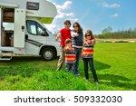 family vacation  rv camper... | Shutterstock . vector #509332030