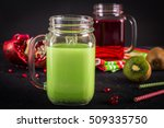 smoothies of kiwi juice... | Shutterstock . vector #509335750