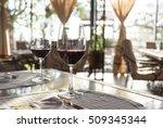 fancy restaurant interior and... | Shutterstock . vector #509345344