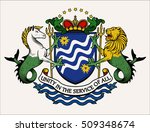 vector heraldic illustration in ... | Shutterstock .eps vector #509348674