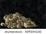 vintage  card  invitation with... | Shutterstock .eps vector #509354230