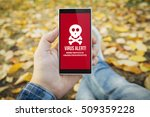 man in the park with virus... | Shutterstock . vector #509359228