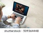 man watching musical...   Shutterstock . vector #509364448